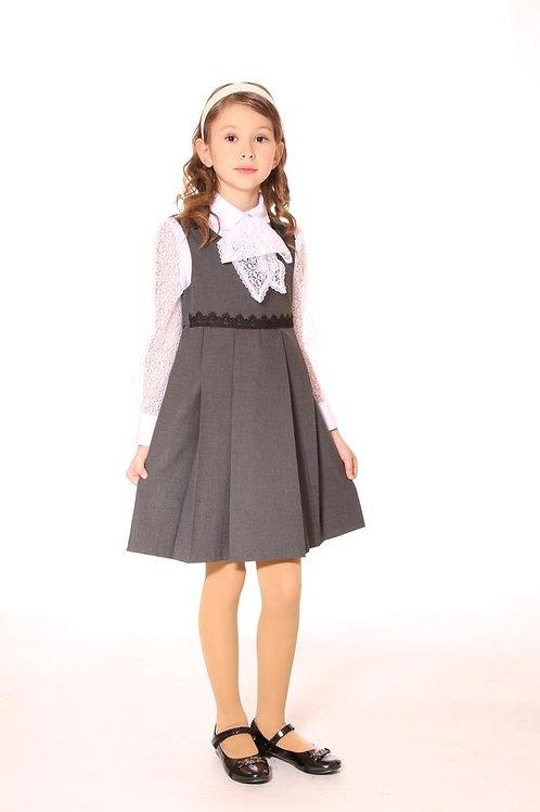 Сарафан серый 1401