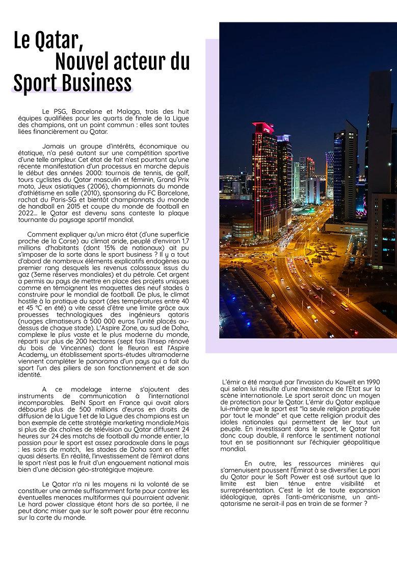 le qatar, nouvel acteur du sport busines