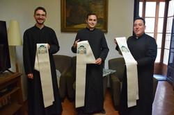 Los futuros sacerdotes con sus nuevas es
