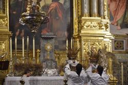 Ofrecimiento de espigas al Santísimo