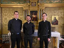 Félix, Alberto y Borja
