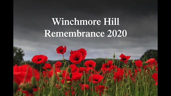 Remembrance 2020 in Winchmore Hill