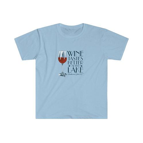 Wine Tastes Better at the Lake Unisex Softstyle T-Shirt