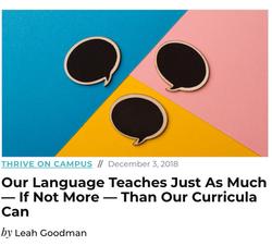 Thrive Intentional Language
