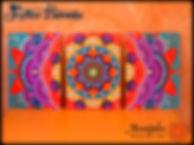Cuadro Mandala Triptico Hamesha