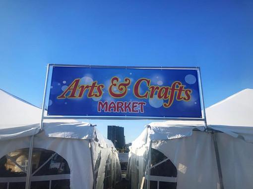 Arts & CRafts Sign at Newport Oktoberfest