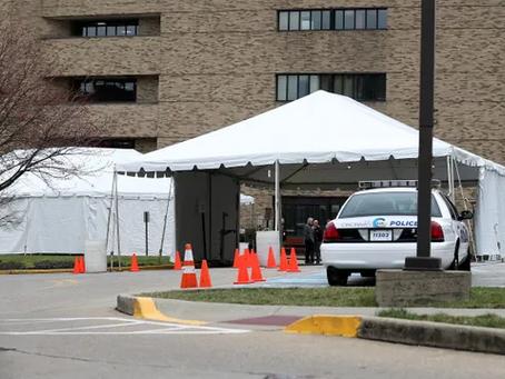 Tent Rentals for Drive-Thru Covid-19 Vaccinations - Cincinnati