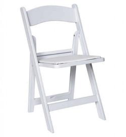 White Garden Resin Folding Chair