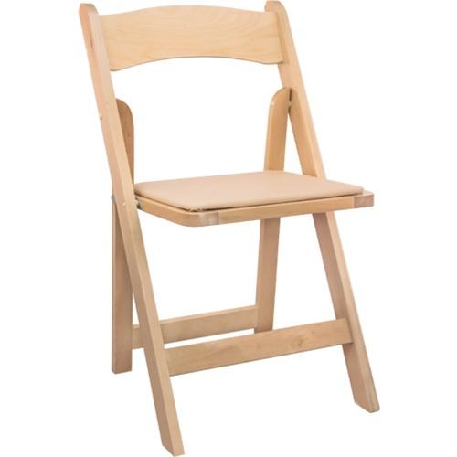 Natural Garden Wood Folding Chair
