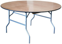 """72"""" Plywood Round Table"""