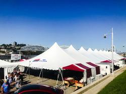 Pole Tents at Oktoberfest Newport