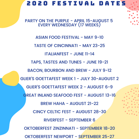 2020 Featured Event Schedule