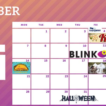 Cincinnati Festivals and Events October Calendar