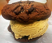 Double Chocolate Chip Cookie with Stout Ice Cream