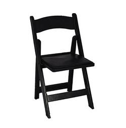 Black Garden Wood Folding Chair