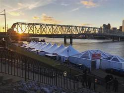 Tent at Newport's Festival Park