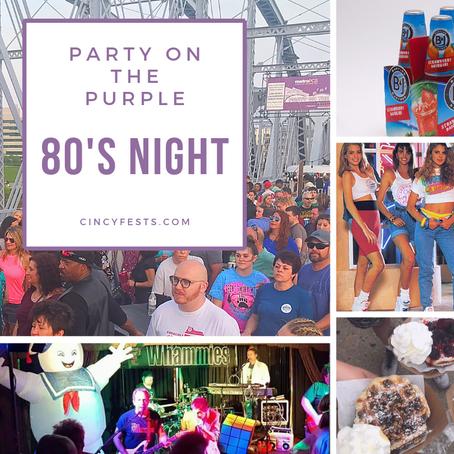 IT'S 80'S NIGHT ON THE PURPLE PEOPLE BRIDGE