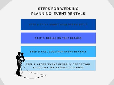 Steps for Wedding Planning: Event Rentals