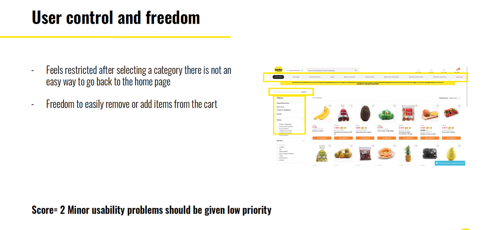 User control and freedom