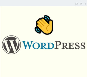 😢👋WordPress No More!