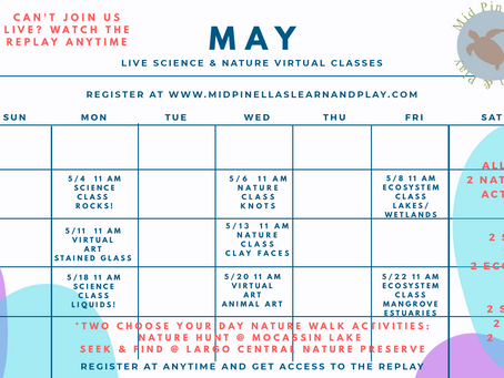 Register now for our May Virtual Classes