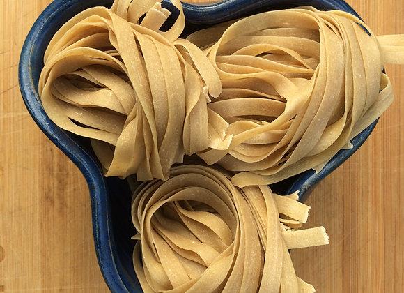 Organic egg pasta tagliatelle