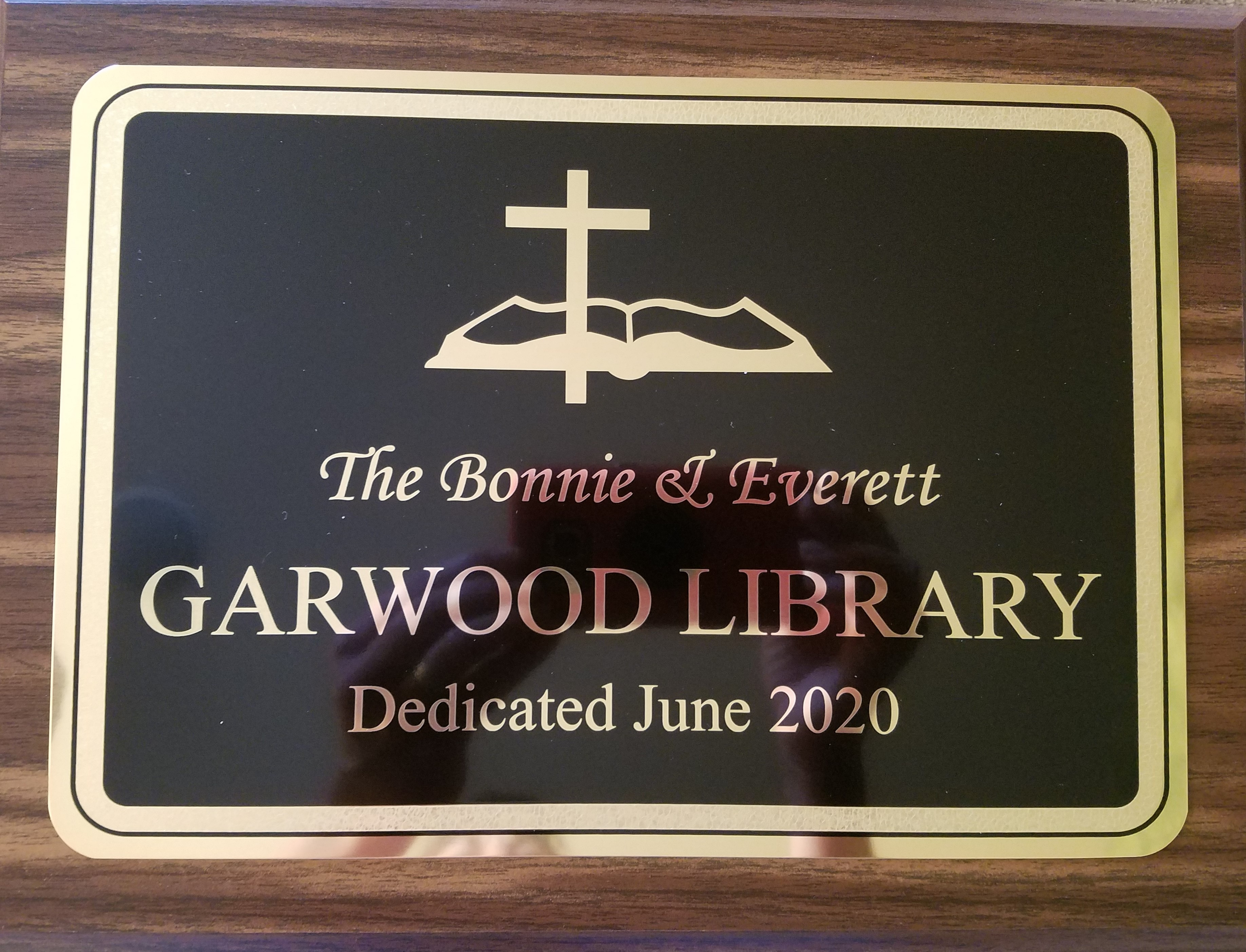 Garwood Library Plaque