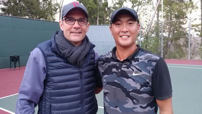 Federer's past coach, Paul Annacone & Sky