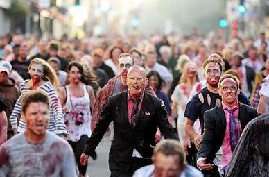 Zombie Business TV Film Extras Zombies