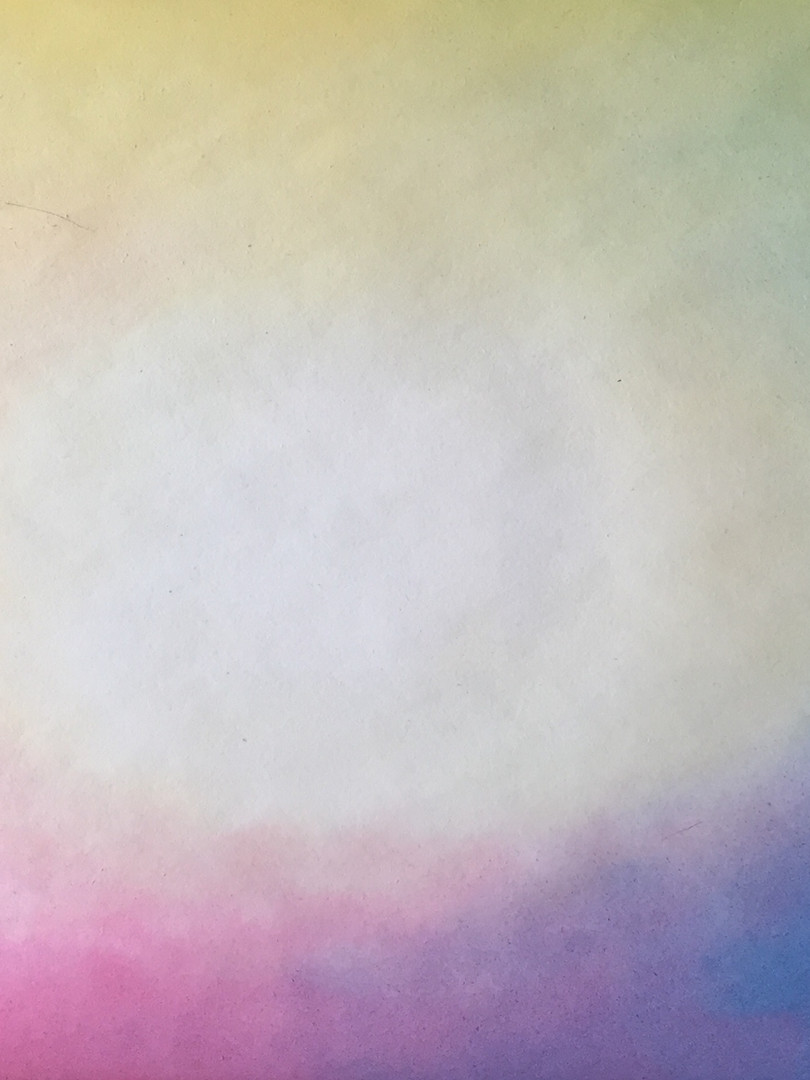 Nat in nat schilderen regenboog