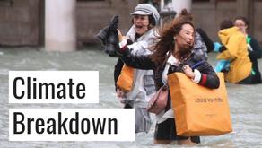 Climate breakdown - happening now