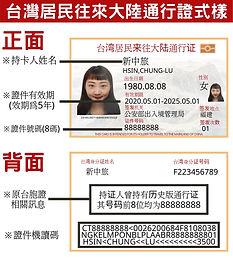 2021台灣居民來往大陸通行證與中國入境COVID-19的規定