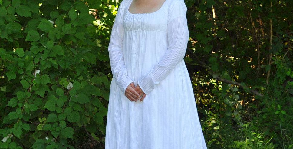 Regency Drawstring-Front Day Dress