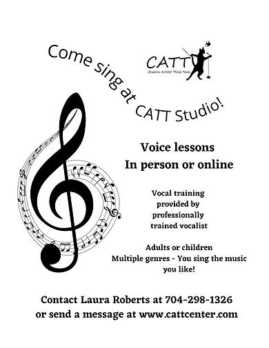 CATT Studio voice lessons flyer update 1