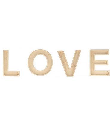 LETRAS LOVE MADERA