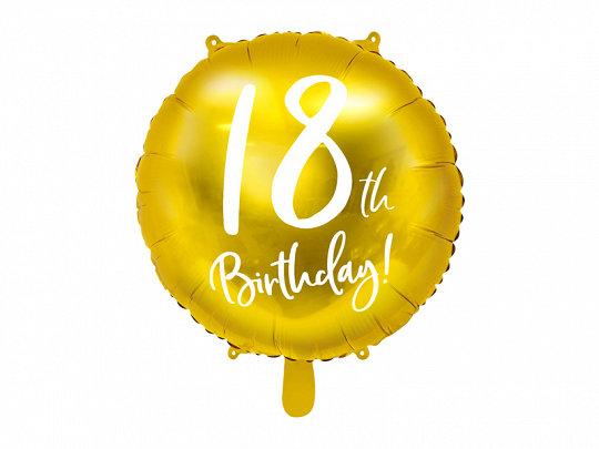 GLOBO FOIL 18TH BIRTHDAY ORO