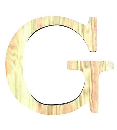 LETRA MADERA PINO 19.CM G