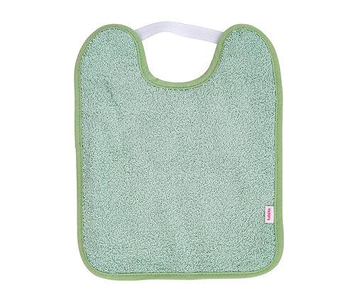 BABERO TOALLA CON GOMA Y PLASTIFICADO Verde mint
