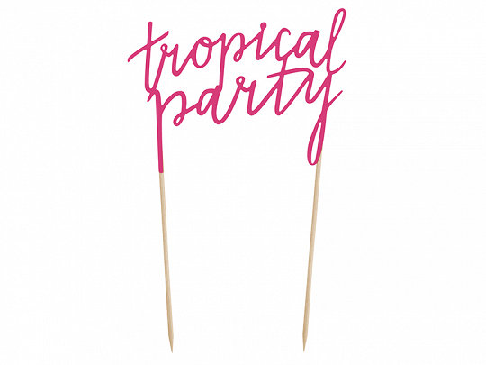 TOPPER PASTEL TROPICAL PARTY