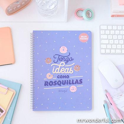 LIBRETA TENGO IDEAS COMO ROSQUILLAS MR.WONDERFUL