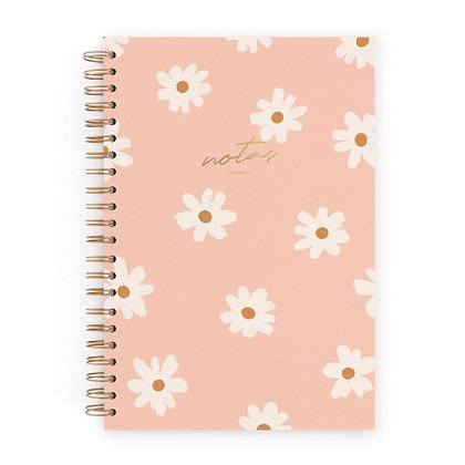 CUARDERNO L CHARUCA FLORAL PINK