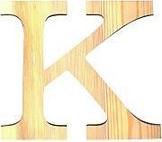 LETRA MADERA PINO 19.CM K