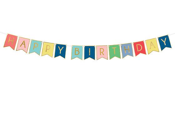 GUIRNALDA HAPPY BIRTHDAY MULTICOLOR