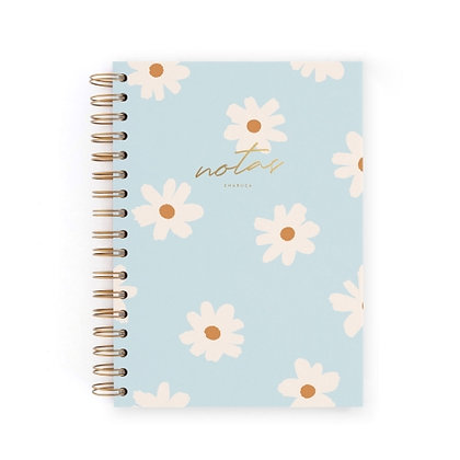 CUADERNO A5 FLORAL BLUE CHARUCA