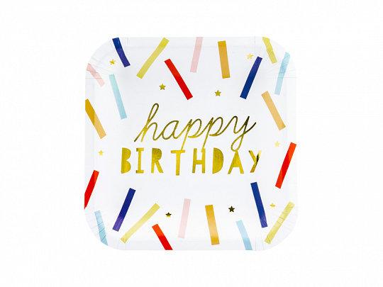 PLATOS MULTICOLOR HAPPY BIRTHDAY