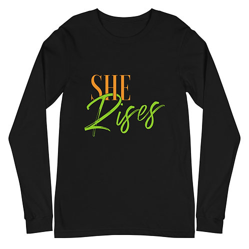 SheRises | Empowerment Long Sleeve T-Shirt | Canvas
