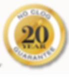 20 years no clog guarantee