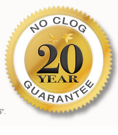 20 years no clog guarantee