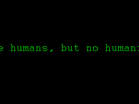 "Random Thoughts... ""Its not a human being."""