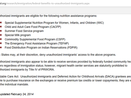 Illegal Immigrants and Welfare in America